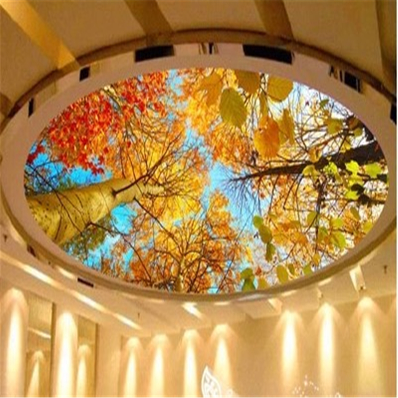 Beibehang photo wallpaper custom mural autumn leaves for Custom mural painting