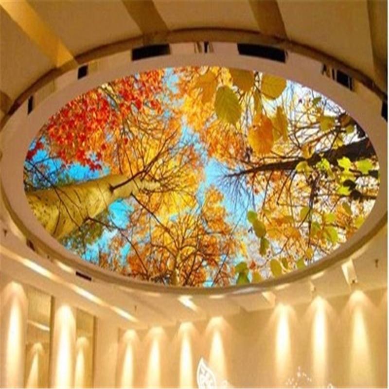 Beibehang photo wallpaper custom mural autumn leaves for Custom mural painting
