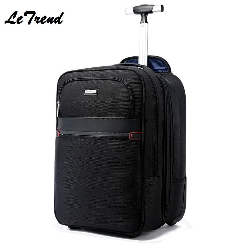Boarding Travel Backpack Removable Luggage Business Multi function USB Large Capacity Computer Travel Bag On Wheel Waterproof