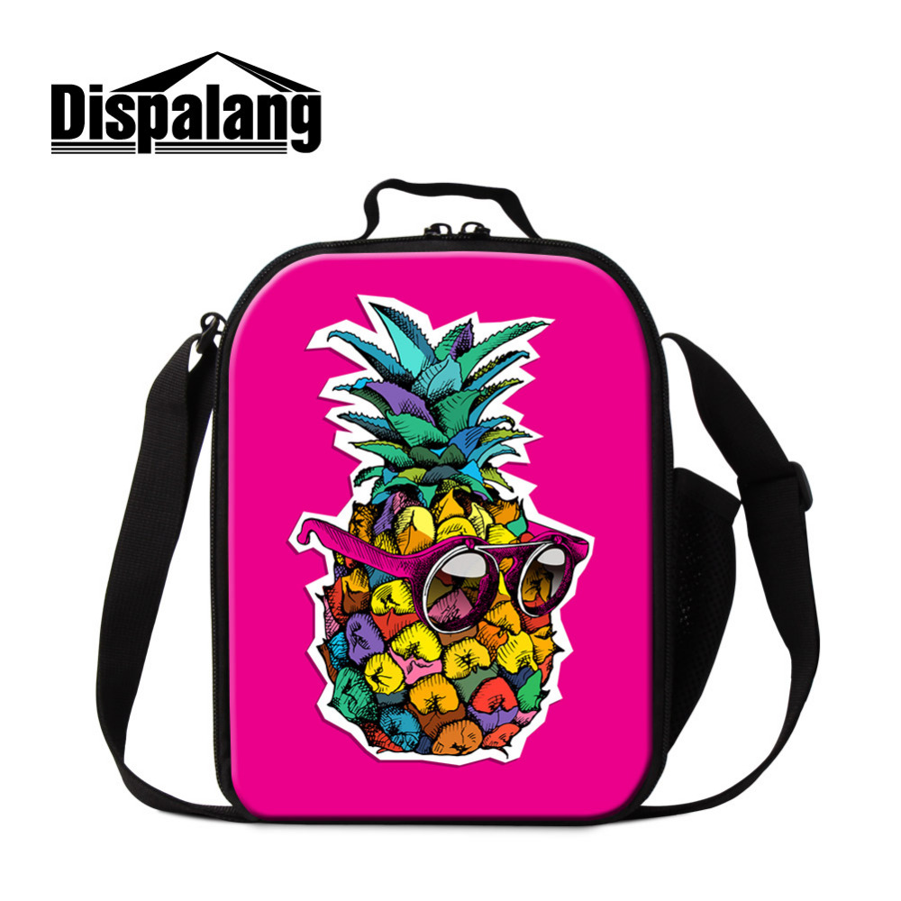 Dispalang Pineapple Kids Insulated lunch Bag Thermal Food Picnic Small Lunch Bags for Women Men Fruit Cooler Lunch Box Bag Tote