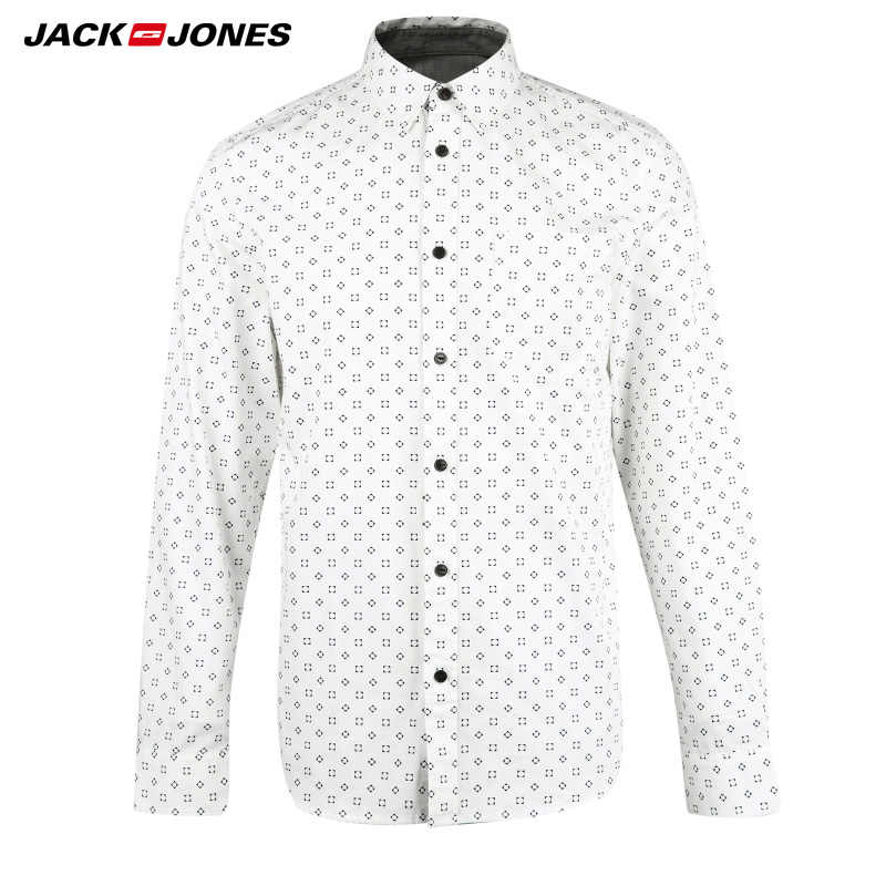 JACKJONES ブランド男性ホットカジュアルシャツ男性スリムシャツ正規コットン 100% 男性トップス | 216105034