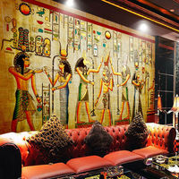 Egyptian Wall painting Vintage Photo Wallpaper Custom 3D Wall Murals History & Culture wallpaper Kids Bedroom Study Room decor