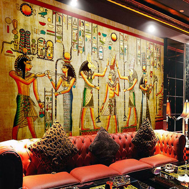 Buy egyptian wall painting vintage photo for Egyptian wallpaper mural