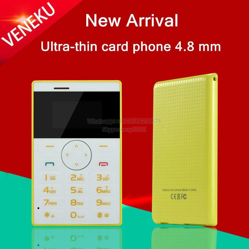 Цена за VENEKU V1 разблокирована Итальянский, Арабский небольшой MP3 FM дети девушки мини Ультратонкий кредитная карта телефон портативный сотовый мобильный телефон P247