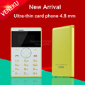 VENEKU V1 unlocked Italian,Arabic small MP3 FM kids girls mini Ultrathin credit card phone portable cell mobile phone P247