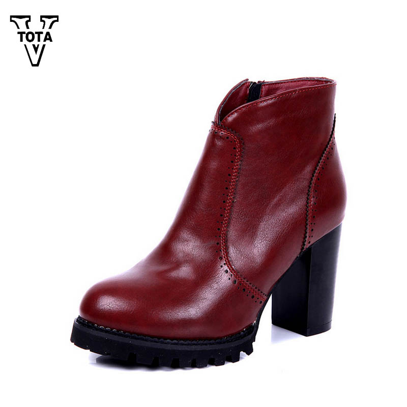 VTOTA High Quality Martin Boots Women Genuine Leather Autumn Winter Shoes Woman Botas Mujer Ankle Boots For Women Work Shoes XY5 free shipping autumn winter genuine leather men s work ankle boots martin boots british style western cowboy boots for men botas
