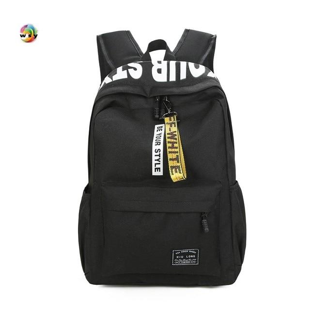 ff6a58a142 Brand High Quality Canvas Backpack Strong Large capacity Travel bag Men  Preppy School bag for Girls Boys Black Mochila Pink Bag