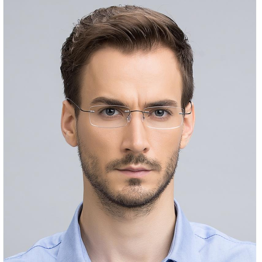 Vazrobe (9g) Rimless Glasses Men Women Customized Diopter Prescription Myopia Clear Lens 1.61 1.67 Index anti blue ray for Male