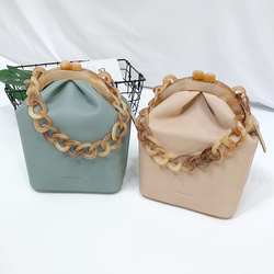 Acrylic Box Bag Bucket Bag for Women Acrylic Clip Evening Bag Ins Chain Luxury Women Handbag Banquet Party Purse Shoulder Bags