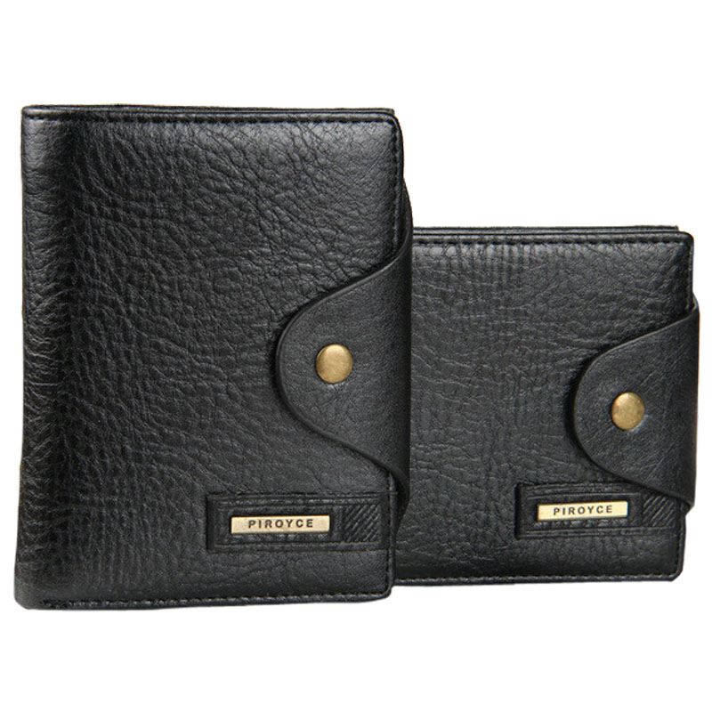 Mcree Mens Leather Bifold ID Card Holder Purse Money Clip Wallet