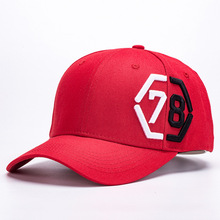 New Number 78 Baseball Cap Men Women Fashion Casual Sports Dad Hat Red Black 2 Colors