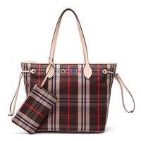 Women's Neverful handbag shopping bag Damier canvas simple Korean lattice Neverfull bags with zipper wallet free shipping