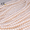 [XF800]Natural Pearl Beads aaa Fresh Water 9-10mm Semi Round Pearl Stone Colar Loose Gemstones Fine Jewelry [B103]