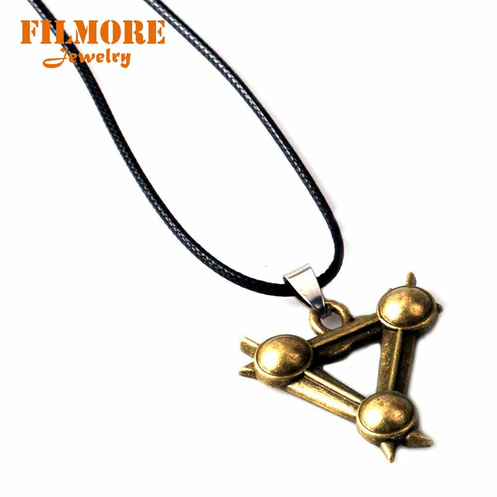 FPS Game Warhammer: The End Times Vermintide 2 Necklace Wax Rope Chain Pendant Men Woman Jewelry Alloy Triangle Design Fans Gift