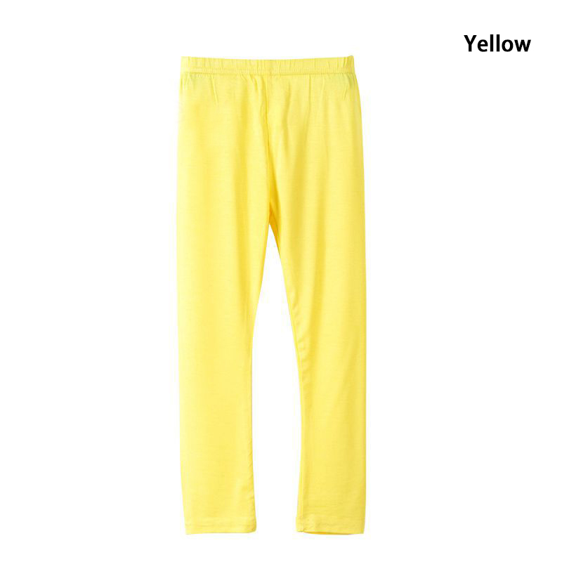 Girl Pants Soft Elastic Modal Cotton Kids Leggings Candy Color Girls Skinny Pants Trousers Solid Color 2-13Y Children Trousers 4