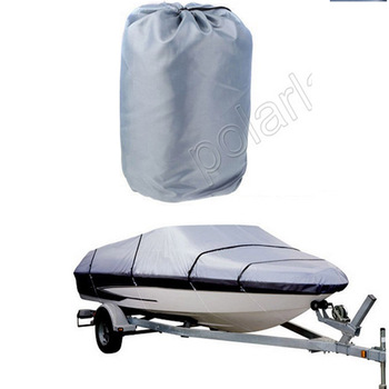 Newly HOT SELL Waterproof 210D Boat cover Speedboat  Protected 17-19ft Beam GREY Trailerable Cover