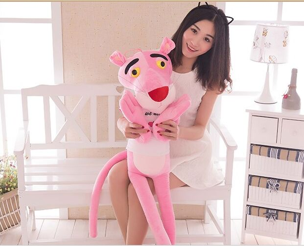 140cm pink panther dressed cloth we all pink panther plush toy soft throw pillow, birthday gift w1099 lovely giant panda about 70cm plush toy t shirt dress panda doll soft throw pillow christmas birthday gift x023