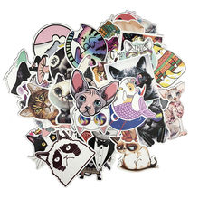 50pcs/lot Kawaii cute cat stickers creative Suitcase stickers for Laptop Luggage Bags Bike Phone Cool Sticker(China)