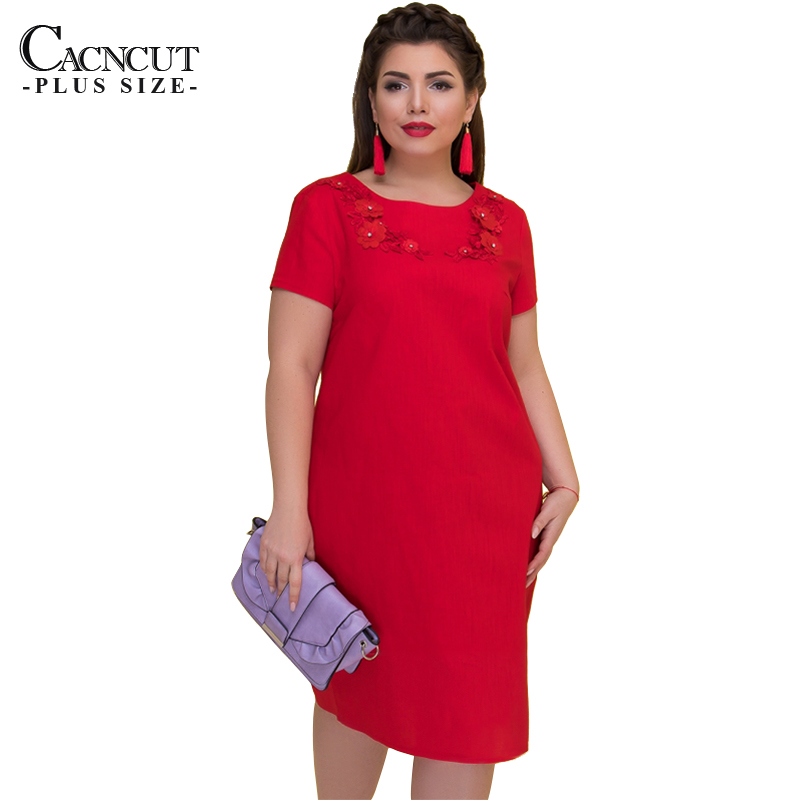 US $14.98 45% OFF|2019 Spring Loose Women Dresses Big Size 5xl 6xl Plus  Size Dress Short Sleeve Office Midi Dress Large Size Elegant Party Dress-in  ...