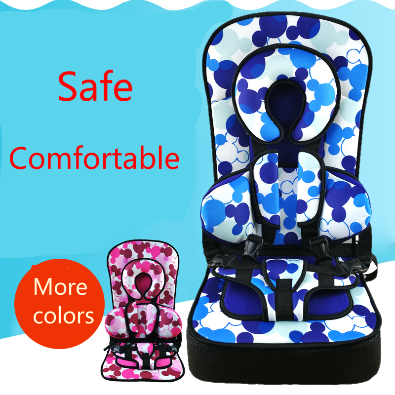Portable Baby Safety Seats Adjustable Infant Safety seat Children Chairs Updated Version Thickening Sponge Kids Car Seat four colors infant basket style safety car seat baby car seat portable child automotive safety seats kids outdoor handle cradle