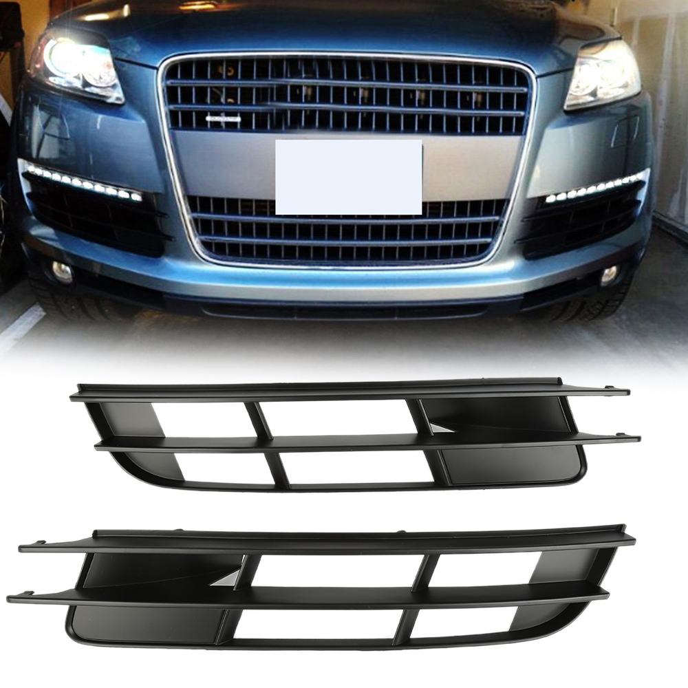 Car Light Cover Grille Car Front Left /& Right Fog Light Bumper Lower Air Outlet Grilles Durable Cover Fits for Audi Q7 2007-2009 Car Styling