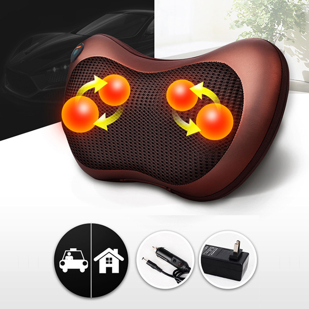 RuiTong Premium Back Massager Heating Kneading Head Massage Pillow Home Car Dual Use Body Cervical Lumbar Waist Leg Pain Relief набор чехлов для дивана и кресел мартекс с карманами 3 предмета 05 0751 3