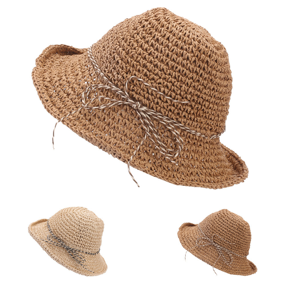 Hats & Caps LOF-fei Ladies summer Sun Hat can be folded empty top hat cotton beach,Wide Brim,collection of blue Boating