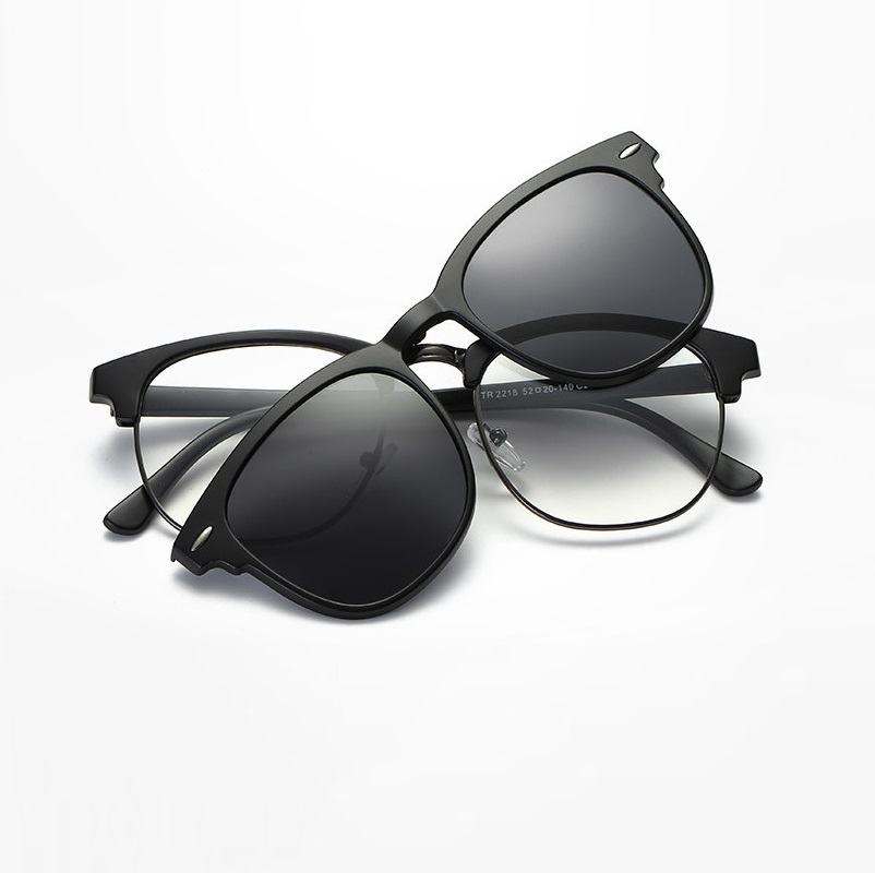 728924ee9c045 width-143 TR magnet retro eyeglasses frames Myopia clip sunglasses  Polarized lenses set for male
