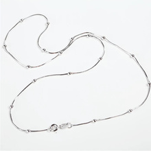 VOJEFEN NEW 100% 925 Sterling Silver Snake Chain Necklace Fit Charm Beads For Women Fashion Jewelry