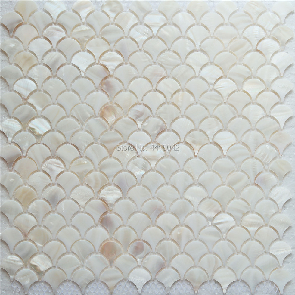 Fan Mother Of Pearl Mosaic Tile For Home Decoration Backsplash And Bathroom Wall Tile 1 Square Meter/lot AL086
