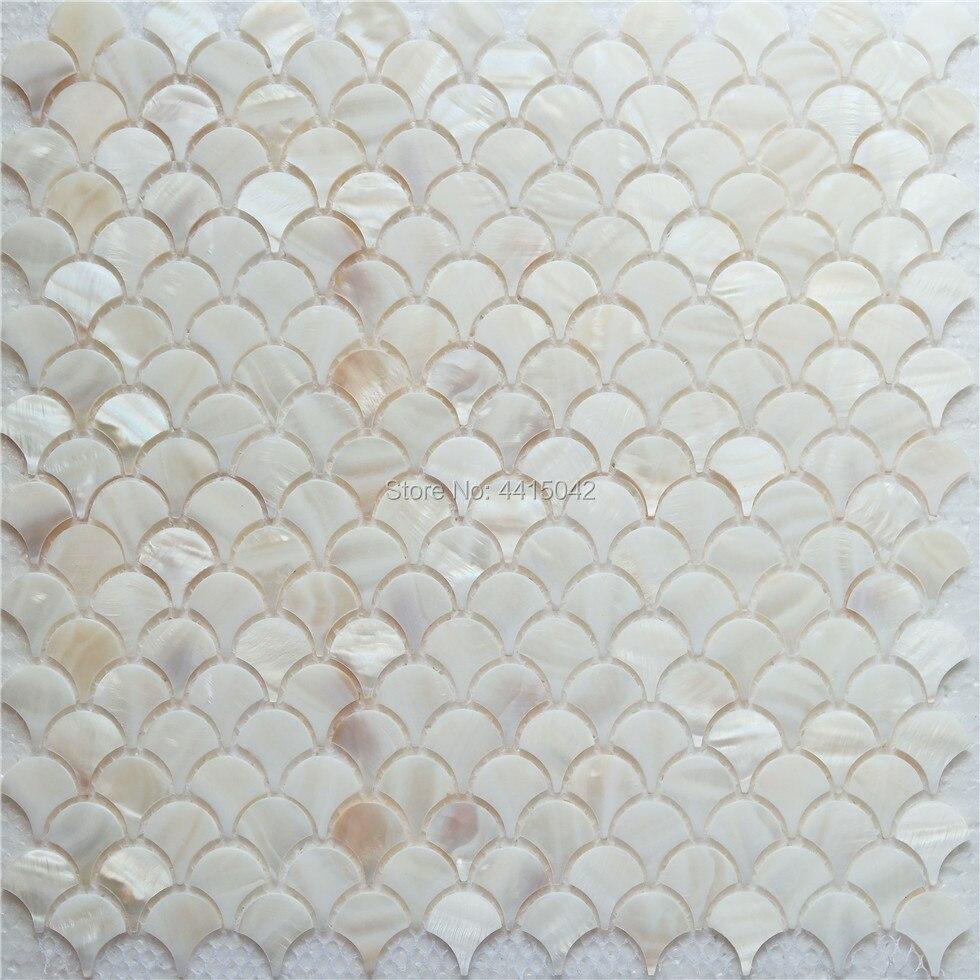 Fan Mother Of Pearl Mosaic Tile For Home Decoration Backsplash And Bathroom Wall Tile 1 Square Meter/lot AL086