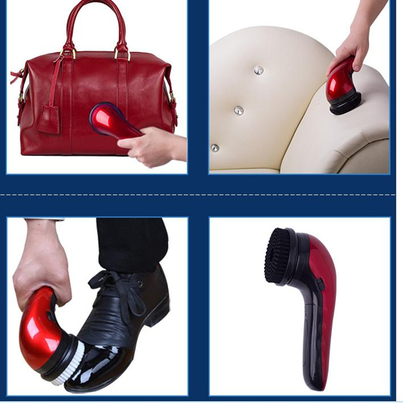 Mini Household Electric Shoe Polishing Machine Shine Automatic shoeshine machine Shoe cleaning Leather Care Portable  Polisher miniature vibration polishing grinding polisher machine flacker remove metal burrs cleaning metal surface stains 220v 110v