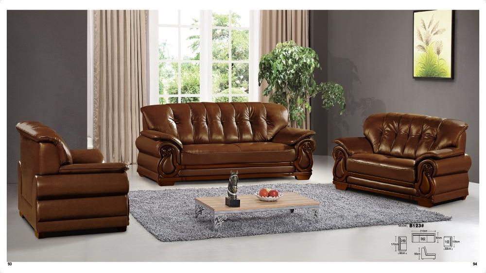 iexcellent modern design genuine leather sectional sofasofa set living room furniture leather sofa 123 sofa set