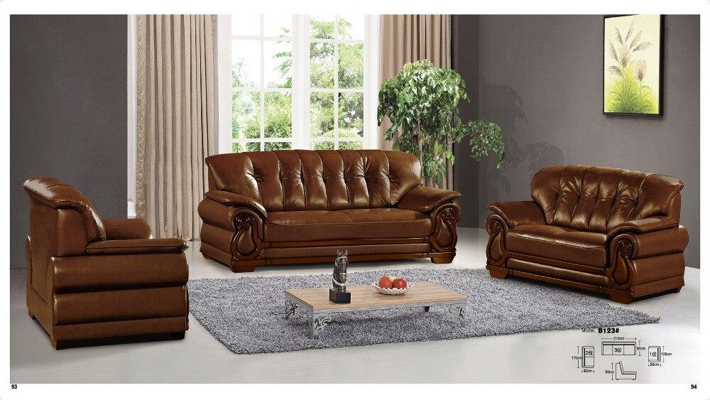 Iexcellent Modern Design Genuine Leather Sectional Sofa,sofa Set Living  Room Furniture Leather Sofa 1+2+3 Sofa Set