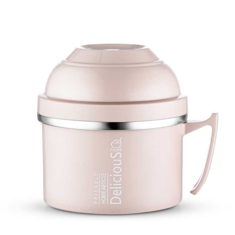 Thermos Food Container Vacuum Lunch Box Insulated for Food Soup Pot Stew Kettle Portable Stainless Steel Bowl Vacuum Flask