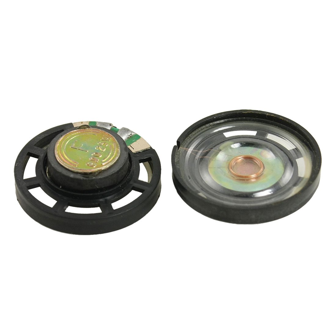 2 Pcs CES-External Magnetic Type Round Plastic Shell Speaker 8 Ohm 0.25W