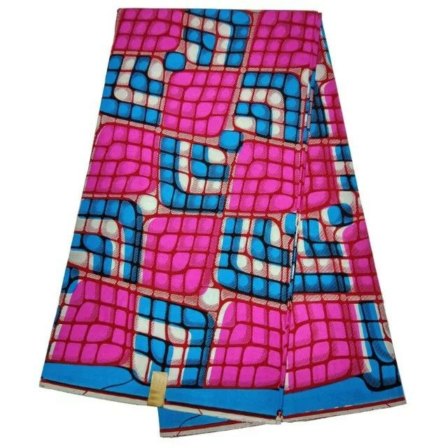 6 Yards lot Hot sale fuchsia and blue printed african wax fabric batik wax for clothes