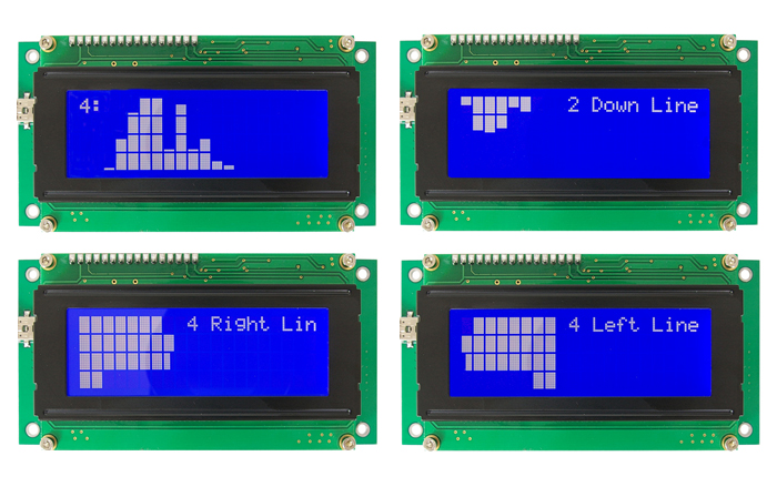 PC 20X4 LCD Smartie Kit Explorer Display Board with UART