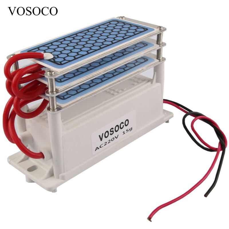 Ozon Generator 220 V 15 gr/std hause Luftreiniger Ozonizador Ozonator Luft Reiniger 3 schichten Ozon-ic maschine Ozonisator Sterilisation