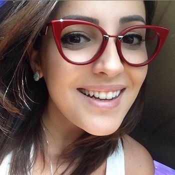 MOLNIYA 2019 moda mujer montura de gafas de Ojos de gato Retro ordenador redondo Blu gafas Marco de lujo montura óptica femenina