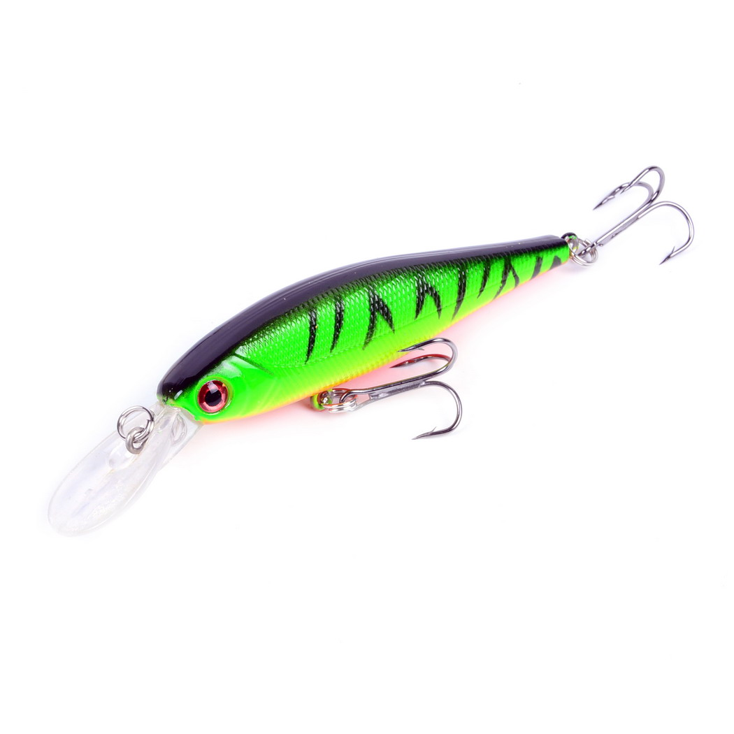 10cm 9g Hard Minnow Fishing Lure Topwater Floating Wobblers Crankbait Bass Artificial Baits Pike Carp Lures image