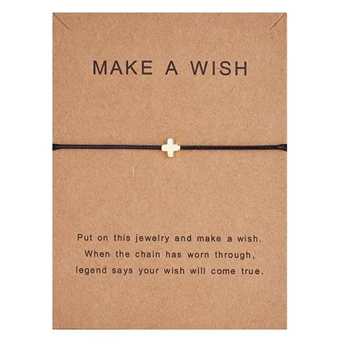 Регулируемый браслет с бумажными карточками в форме бабочки, звезды, короны, Круглый тканый браслет ручной работы, Простые Модные женские ювелирные изделия, подарки - Окраска металла: 11