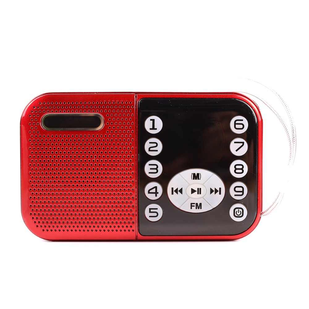 Draagbare Mini Fm Radio Speaker Music Player Tf Card Usb Voor Pc Ipod Telefoon Met Led Display Outdoor Dansen Mp3 hifi B-632