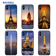 Phone Case Building Pattern DIY Phone Case For iPhone X Soft TPU+PC Cover For iPhone 7 8 Plus X Funda Capinha Accessories