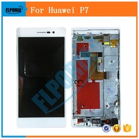 For Huawei P7 LCD Display Digitizer Touch Screen Assembly With Frame For Huawei P7 Replacement Parts