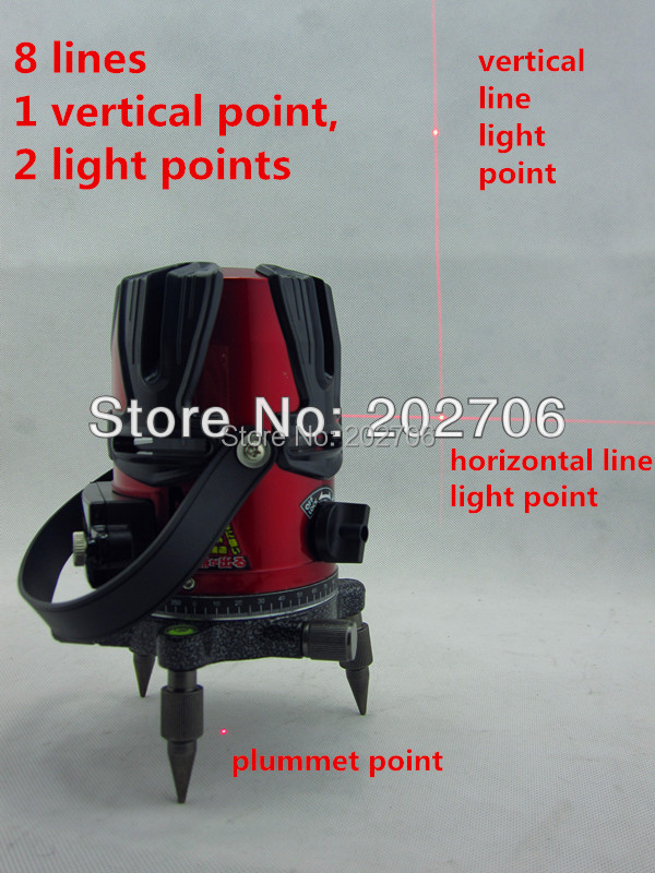 high quality 8 lines 3 point cross line laser level machine 8lines rotary laser line level tool 4v4h with power plugin laser levels from home improvement