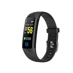 Image 1 - S5 Sport inteligentna bransoletka IP68 wodoodporny kolorowy ekran inteligentna opaska tętno krokomierz z ciśnieniomierzem śledzenie aktywności