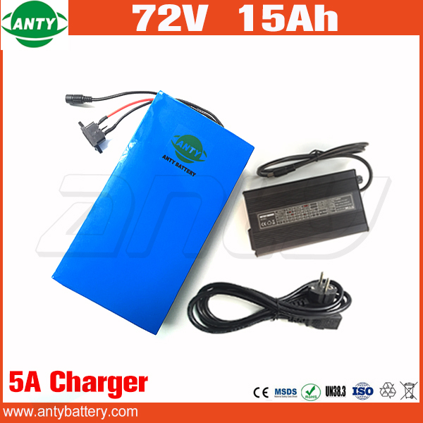 Electric Bicycle Battery 72v 15Ah 1500w Lithium Battery Pack 72v with 84v 5A Charger 30A BMS e Bike Battery 72v Free Shipping free customs taxes customized 72v 40ah lithium battery pack for e bike electric scooters ev e bikes with charger and 50a bms