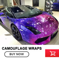 Size: 1.52*5/10/15/20/25/30m Printed Glossy Wrapping Galaxy Starry Sky Wrap Vinyl Film for Truck auto Vehicle Foil Wraps