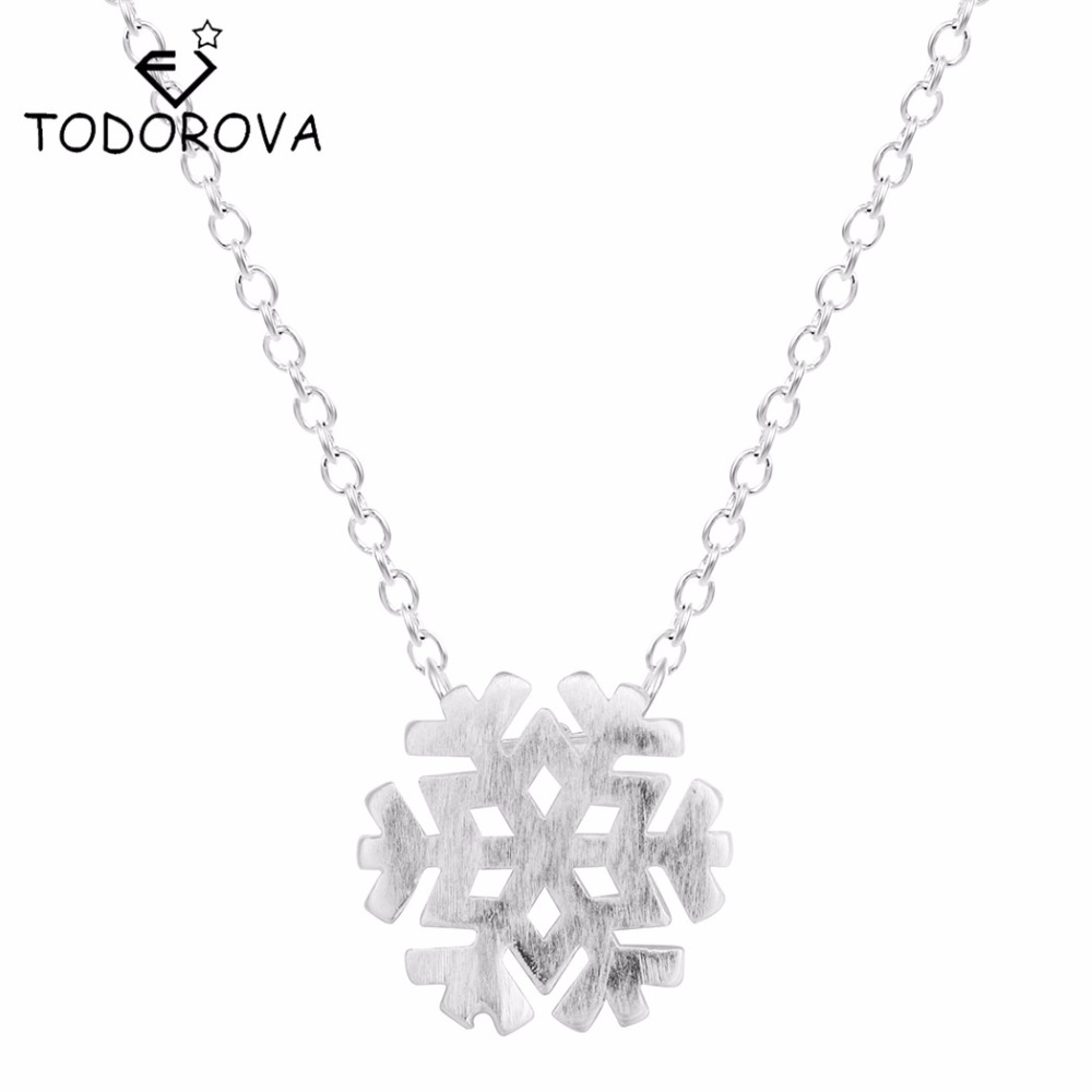 Todorova Drop Shipping 925 Sterling Silver Necklaces Snowflake Silver Chain Necklaces for Women Jewelry Collar Colar de Plata